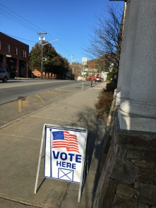 Another vote here sign